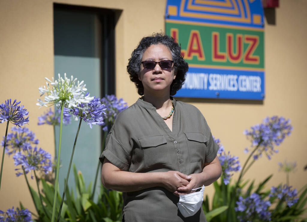 Patricia Galindo, client services coordinator at La Luz Center in Boyes Hot Springs on Thursday, June 25. (Photo by Robbi Pengelly/Index-Tribune)
