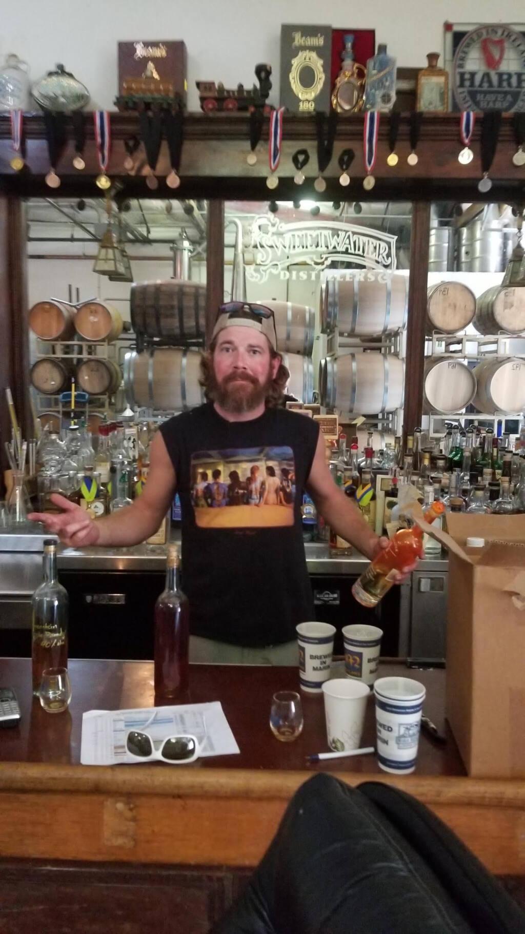 Tim Welch, head distiller, Stillwater Spirits/Moylan's Distilling Company, Petaluma (courtesy photo) 2020