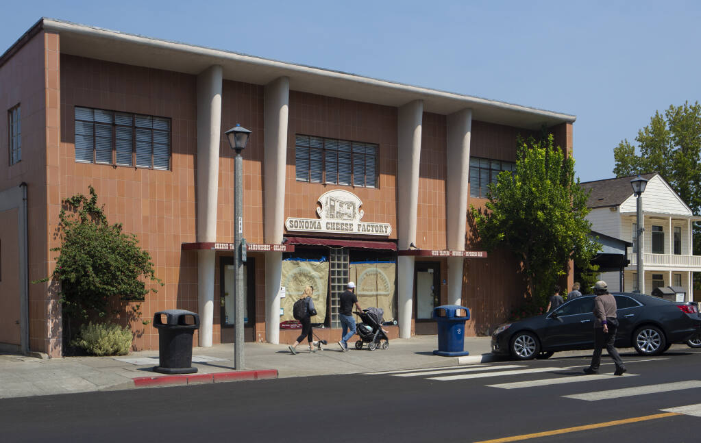 The Sonoma Cheese Factory was listed for sale by the Viviani Trust in May 2020 for $4.75 million. The building on Spain Street on Thursday, Sept. 3. (Photo by Robbi Pengelly/Index-Tribune)