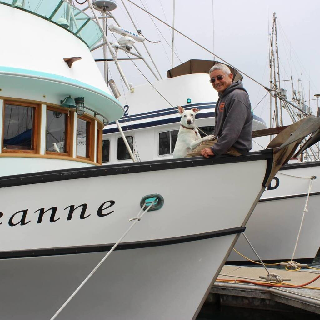 Bodega Bay fisherman Dick Ogg prepares to take out Miss Heidi, his boat. (courtesy of Dick Ogg)