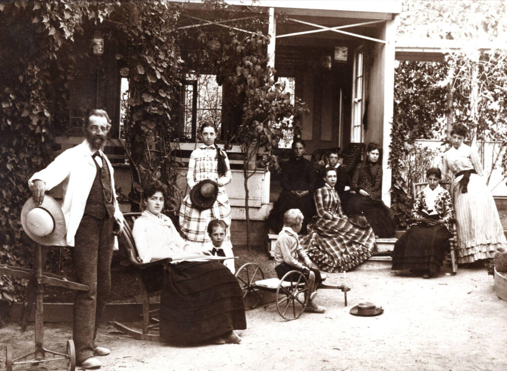 On March 11, wine lovers are invited to celebrate the legacy of Jacob Gundlach, at left with family members, who signed the deed to Rhinefarm 163 years ago.