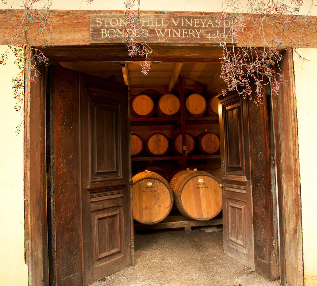 Stony Hill Vineyard winery in Napa County's Spring Hill District was founded in 1952. (Facebook / Stony Hill Vineyard)