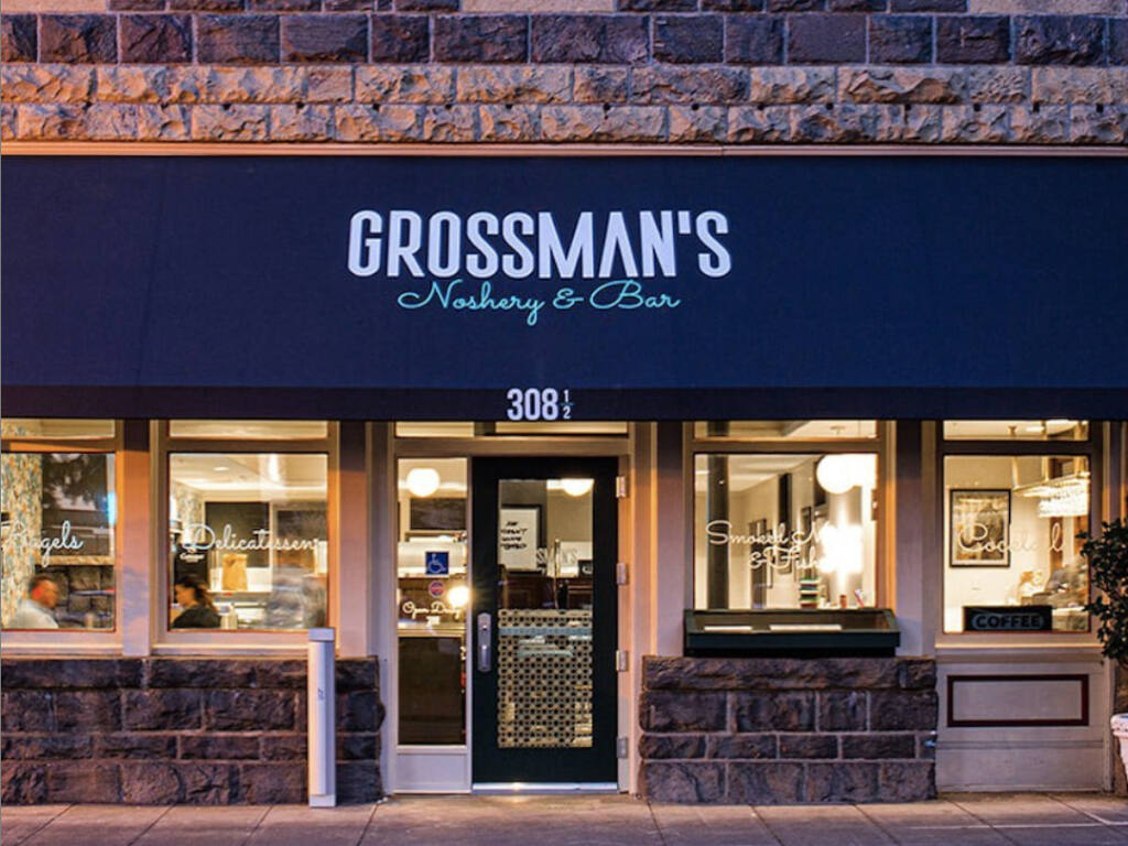 Stark Reality Restaurants, one of the largest restaurant employers in the region with 320 employees, will open all of its restaurants, including Grossman's Noshery in Santa Rosa's Railroad Square, to 25% capacity in the coming days. (Loren Hansen)