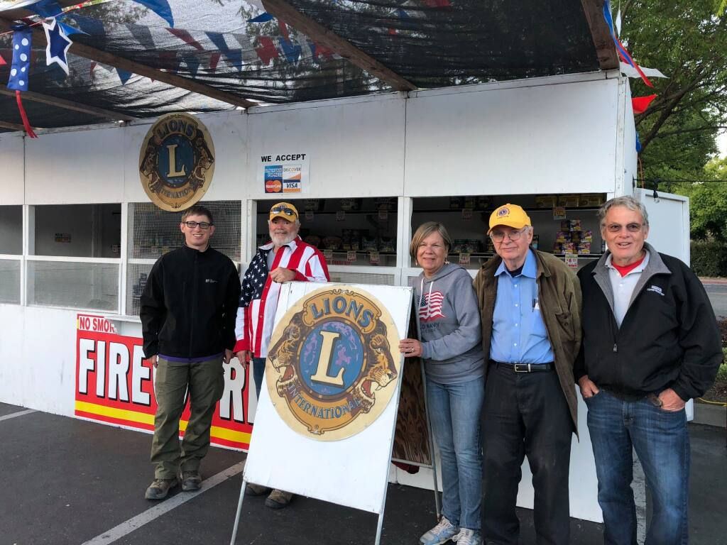 The Sebastopol Gravenstein Lions Club typically holds its annual fireworks sale in the Safeway parking lot in downtown Sebastopol.