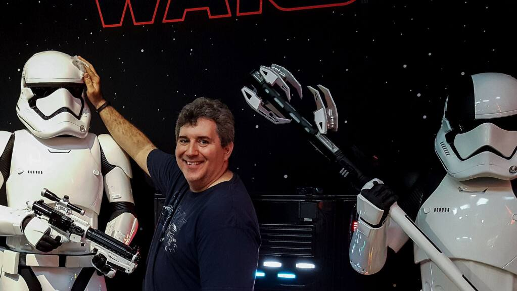 """Giuseppe Lipari, of Petaluma, has been hooked on """"Star Wars"""" since 1977, when he saw the film for the first time at age 5 (COURTESY OF GIUSEPPE LIPARI)."""