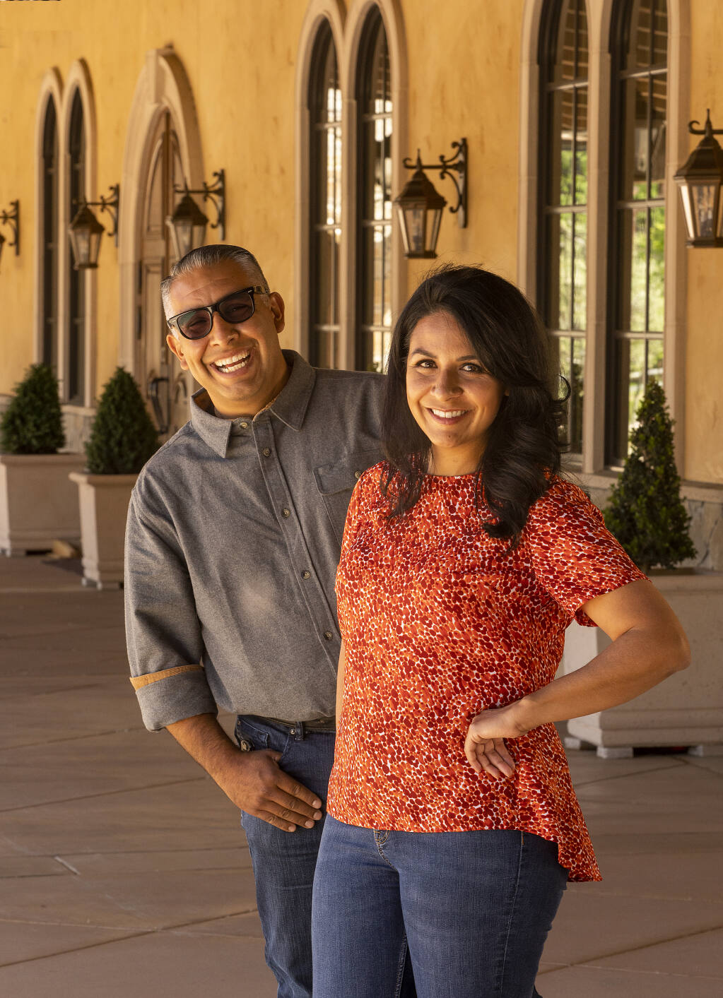 Aldina Vineyards winemaker Monica Lopez and her brother Francisco created Bacchus Landing in Healdsburg, a wine hospitality center with tasting rooms, event space, rooftop terrace and an outdoor piazza scheduled to open in spring 2021.  (John Burgess / The Press Democrat)