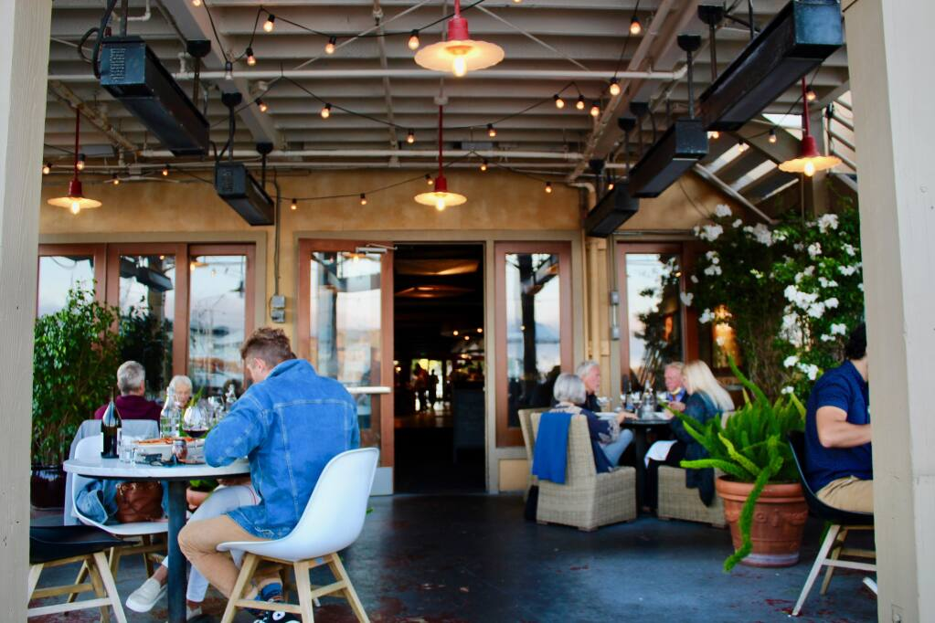 The back patio at Servino Ristorante in Tiburon will be tented and heated for the winter. (Courtesy photo)