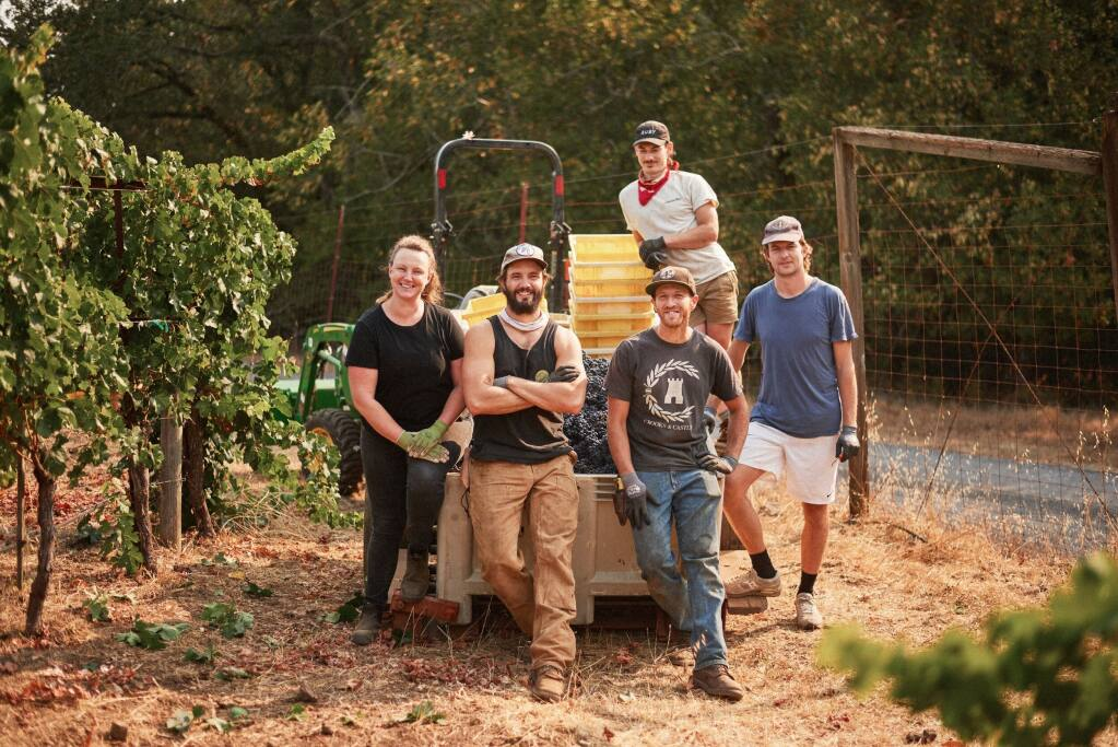Dan Marioni and his team working the harvest on Sonoma Mountain.