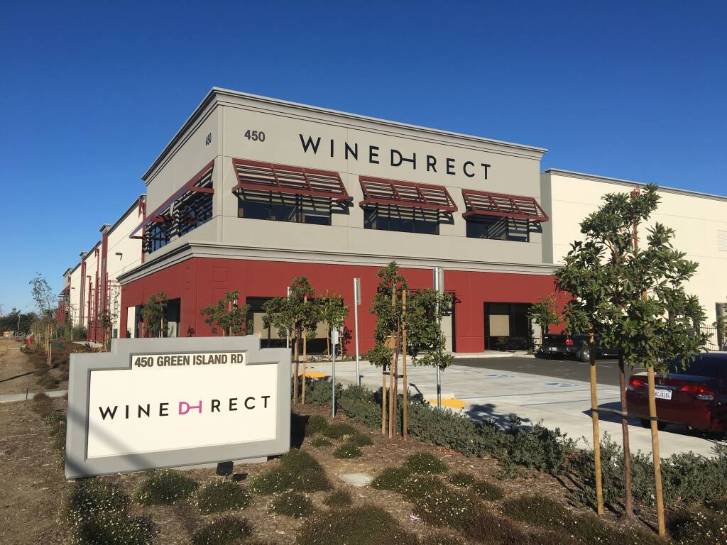 WineDirect's 268,000-square-foot fulfillment center at 450 Green Island Road in American Canyon in Napa Valley opened in 2017. (courtesy of WineDirect) Oct. 15 2018