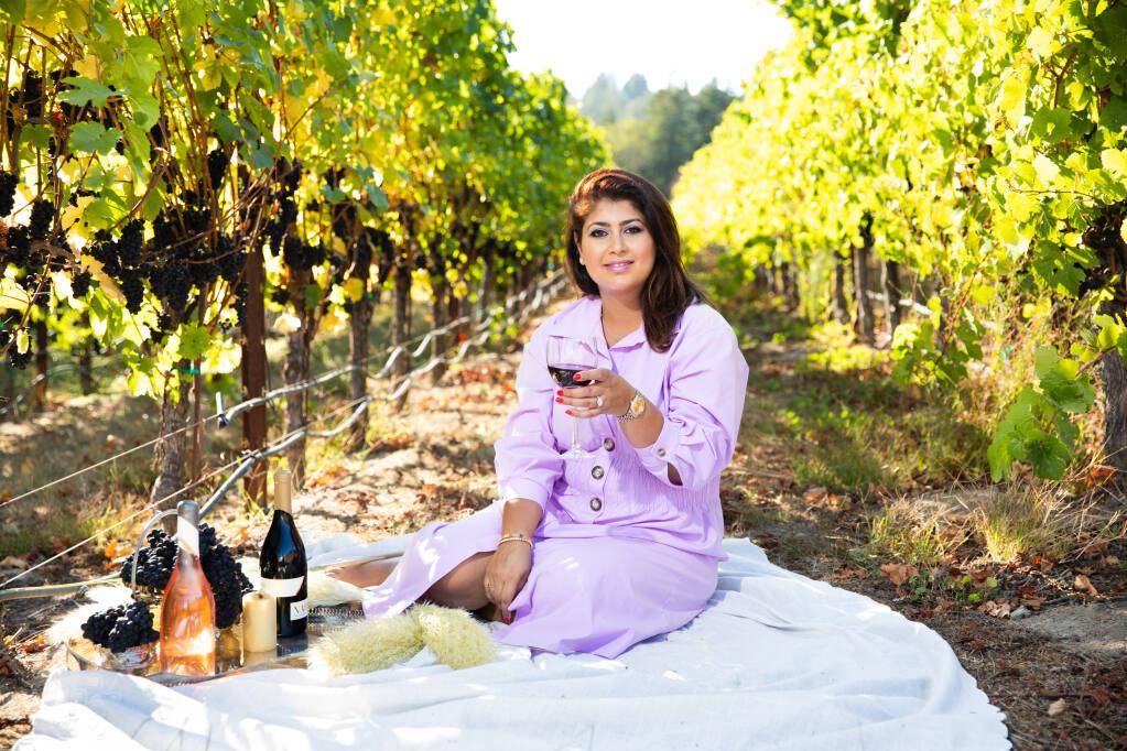 Vintner Raghni Naidu is behind The Press Democrat's wine of the week winner, the  Naidu, 2020 Sonoma Coast of Rosé of Pinot Noir. (Naidu Wines, Kaare Iverson Photography)