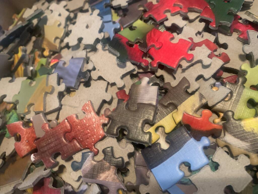 """TABS AND BLANKS: Yes, the """"knobby parts"""" of a jigsaw puzzle piece have official names."""