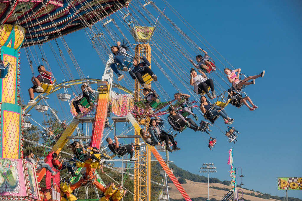 """The Sonoma County Fair presents the scaled-down """"Summer Fun Fest,"""" including carnival rides. (Steve Knudsen)"""