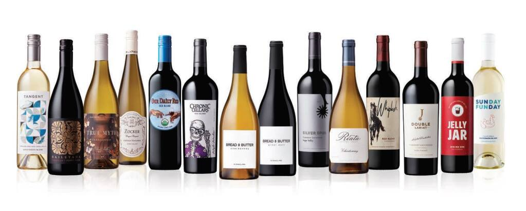 Novato-based WX Brands owns these national wine brands, and it also produces wines, beers and spirits for retailers and other businesses. (courtesy of WX Brands)