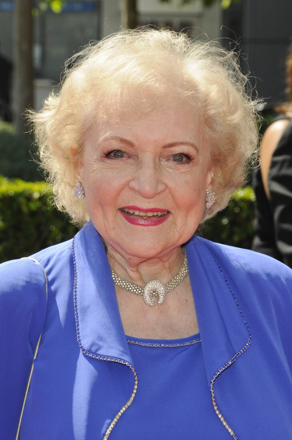 Betty White, shown here in 2009, celebrated her 99th birthday Jan. 17 with a hot dog and fries.