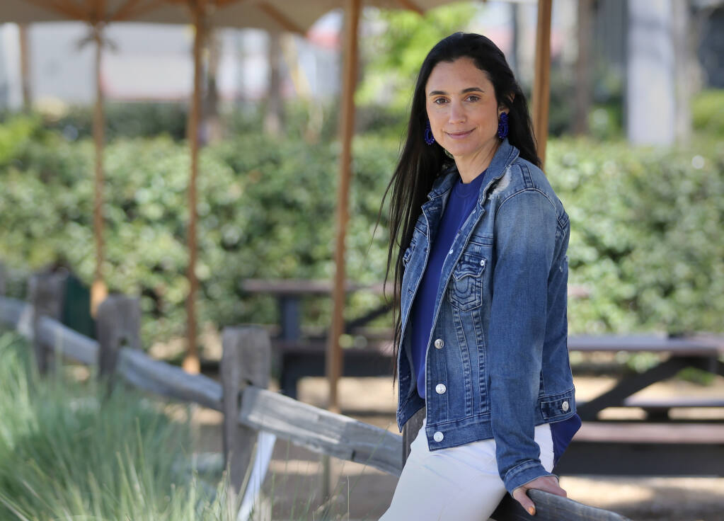 Stephanie Honig at Honig Vineyard and Winery in Rutherford, Calif., on Wednesday, April 14, 2021. (Beth Schlanker/ The Press Democrat)