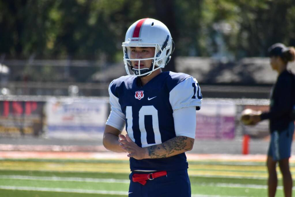 Keven Nguyen, a former kicker at Santa Rosa Junior College, is now playing at Incarnate World. (Courtesy of SRJC)