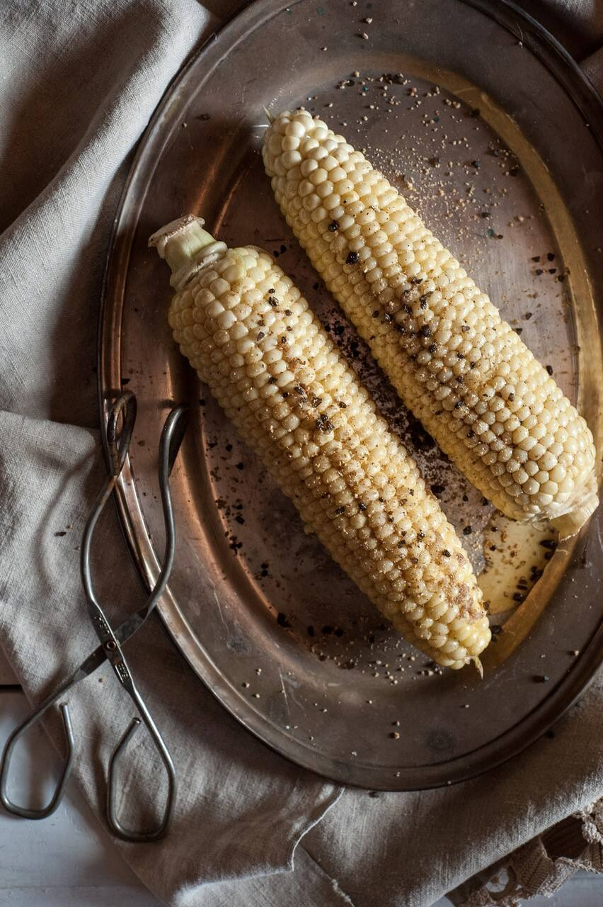 """Grilled Corn with Pepper Butter from """"The Good Cook's Book of Salt & Pepper."""" (Liza Gershman)"""