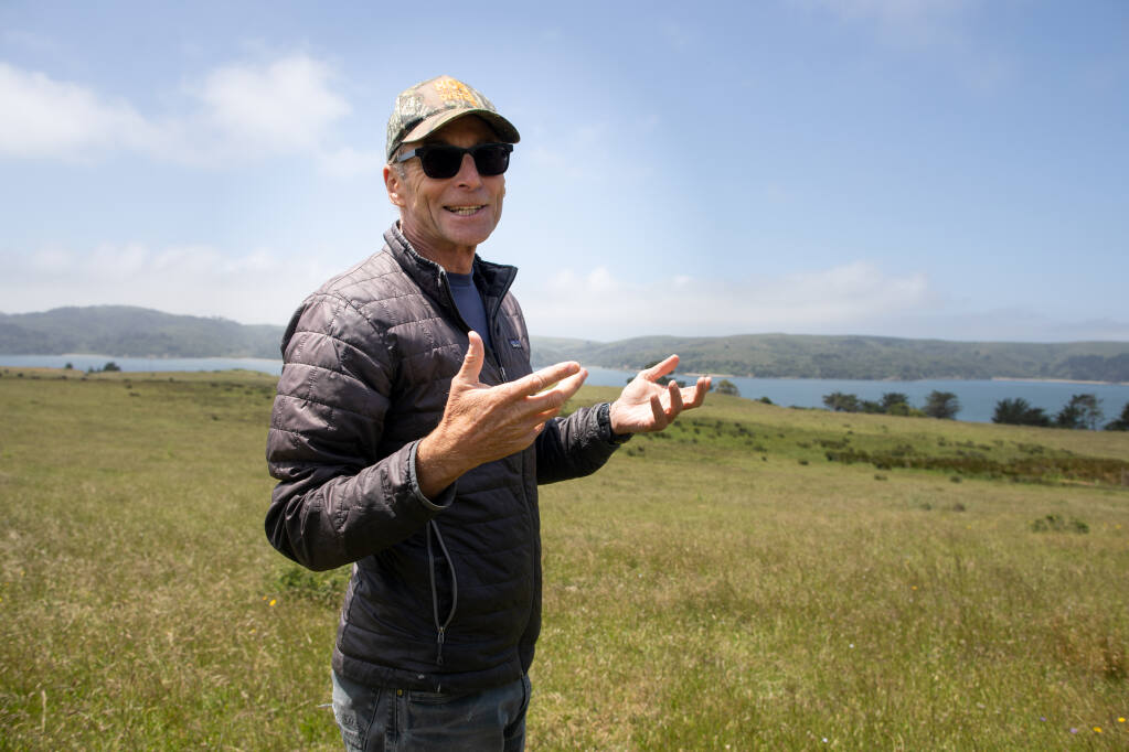 Hog Island Oyster Company CEO John Finger at Leali Ranch in Marshall. Photo: Paige Green