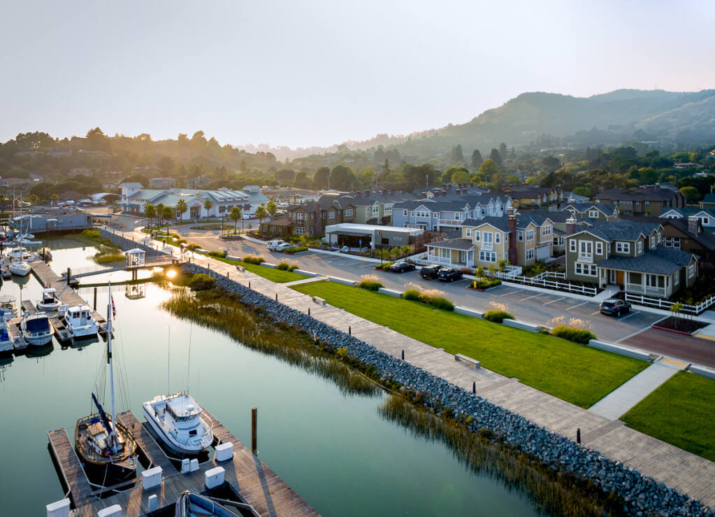 The 131-acre Village at Loch Lomond development in bayside San Rafael includes a 519-slip harbor, Andy's Local Market grocery store and The Strand housing development. (Scott Hargis photo) 2017