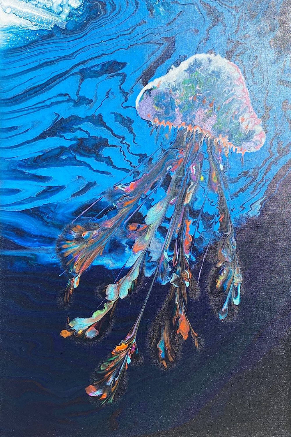 """""""Night Jellyfish"""" by Doyle Christensen will be one of the works displayed Sunday by Artstanding at the Gundlach Bundschu Winery in Sonoma. (Cathleen Francsico)"""