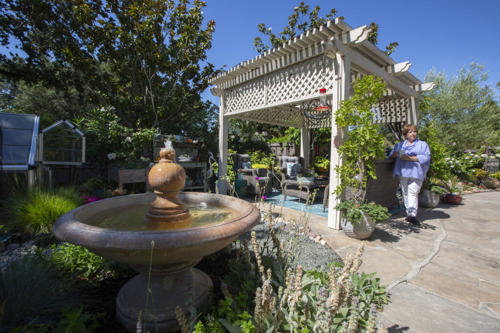 Designer Bonnie Walner has created an outdoor living space that can be used for many different activities.  (Photo by Robbi Pengelly / Index-Tribune)