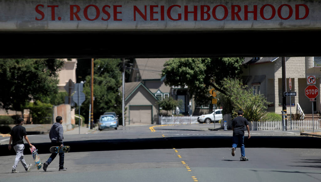 The St. Rose neighborhood is one of the first historic districts in Santa Rosa, Friday, July 24, 2020. (Kent Porter / The Press Democrat) 2020