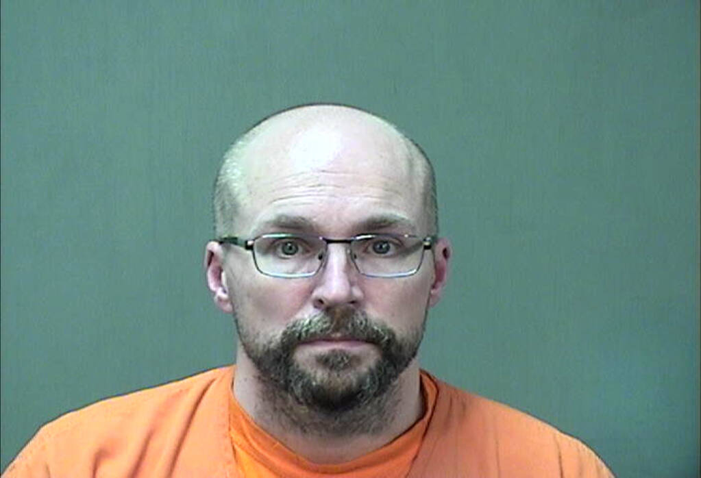 FILE - In this booking photo provided by the Ozaukee County Sheriff's Office Monday, Jan. 4, 2021 in Port Washington, Wis. Steven Brandenburg is shown. (Ozaukee County Sheriff via AP, file)