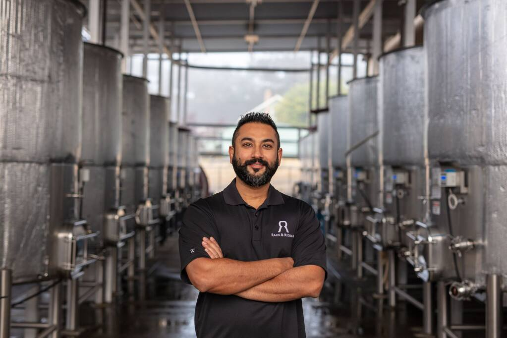 Manveer Sandhu, Director of Winemaking, Rack and Riddles Custom Wine Services