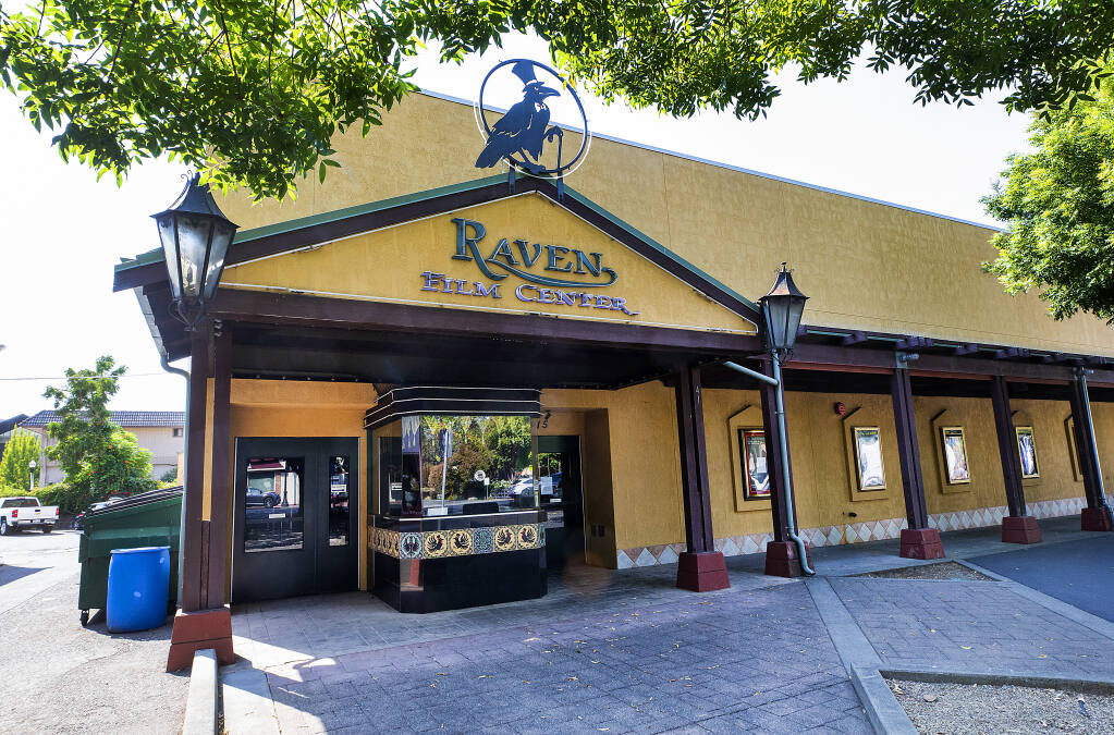 The Raven Film Center in Healdsburg has permanently closed its doors due to economic impacts from the pandemic, on Thursday, Sept. 3, 2020.  (John Burgess / The Press Democrat)