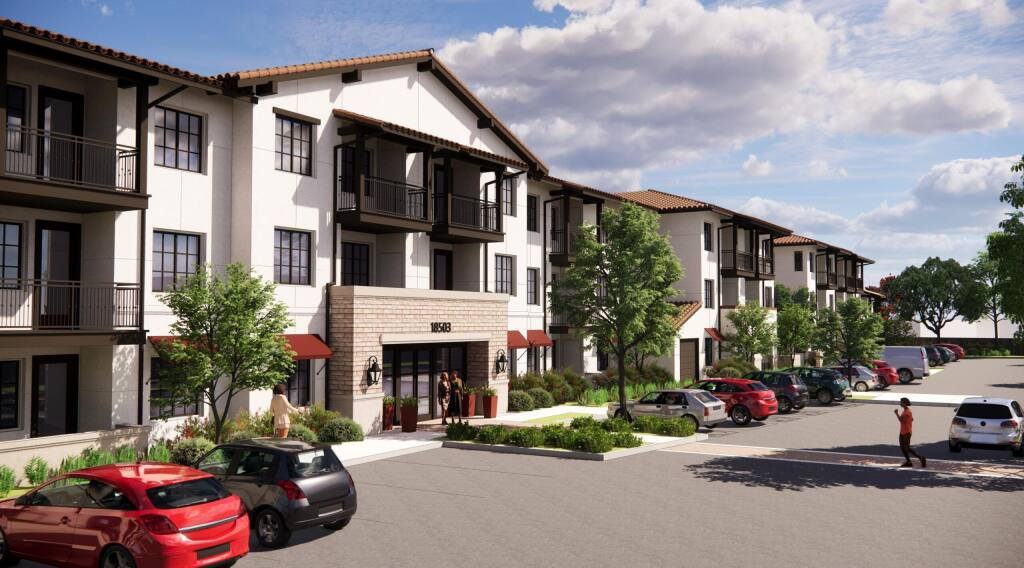 Milestone Housing's rendering of the proposed 92-unit affordable senior housing project, Siesta Sonoma.