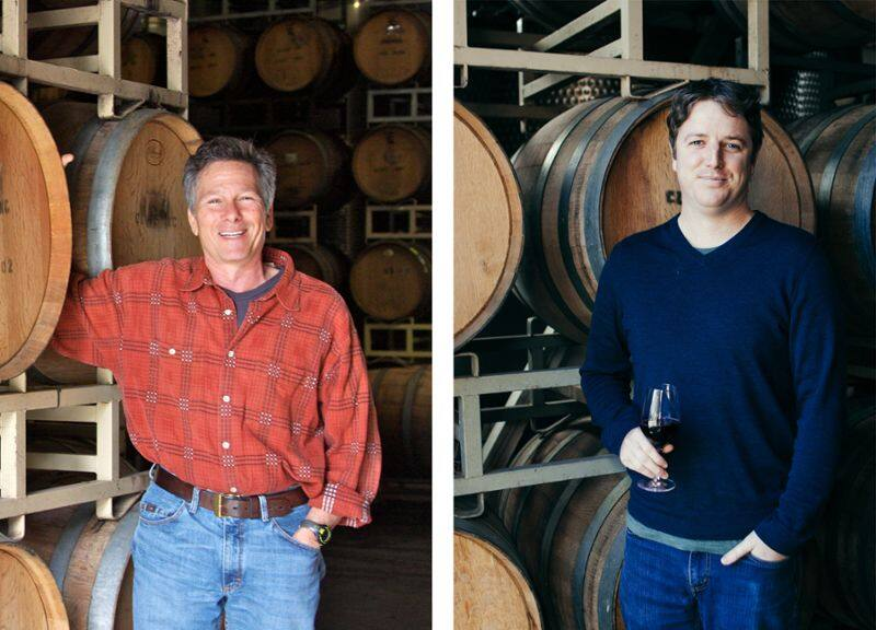 Charlie Tsegeletos, left, winemaker at family-owned Cline Family Cellars in Sonoma, and Tom Gendall, director of winemaking and viticulture. (courtesy of Cline Family Cellars)