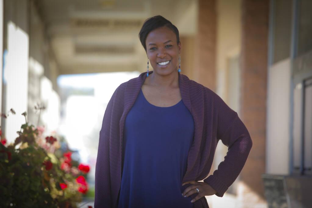 Petaluma City Schools board's newest president, Joanna Paun on Jan. 18, 2021.(CRISSY PASCUAL/ARGUS-COURIER STAFF)
