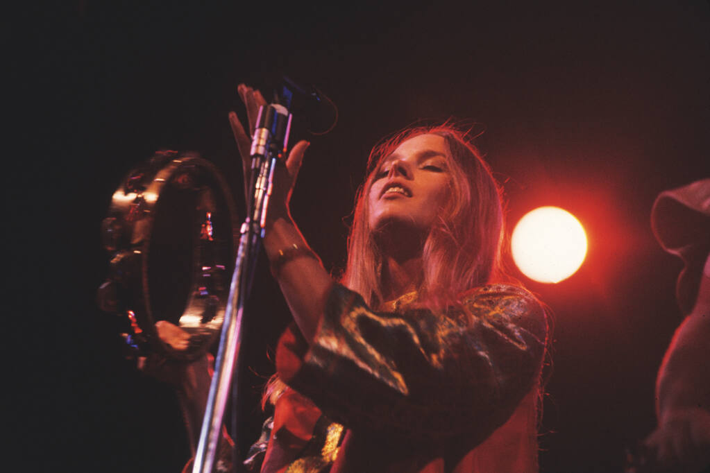 """Suki Hill's photo of Michelle Phillips at the 1967 Monterey Pop Festival is part of a new """"California Rocks!"""" exhibit at Sonoma Valley Museum of Art. Suki Hill"""