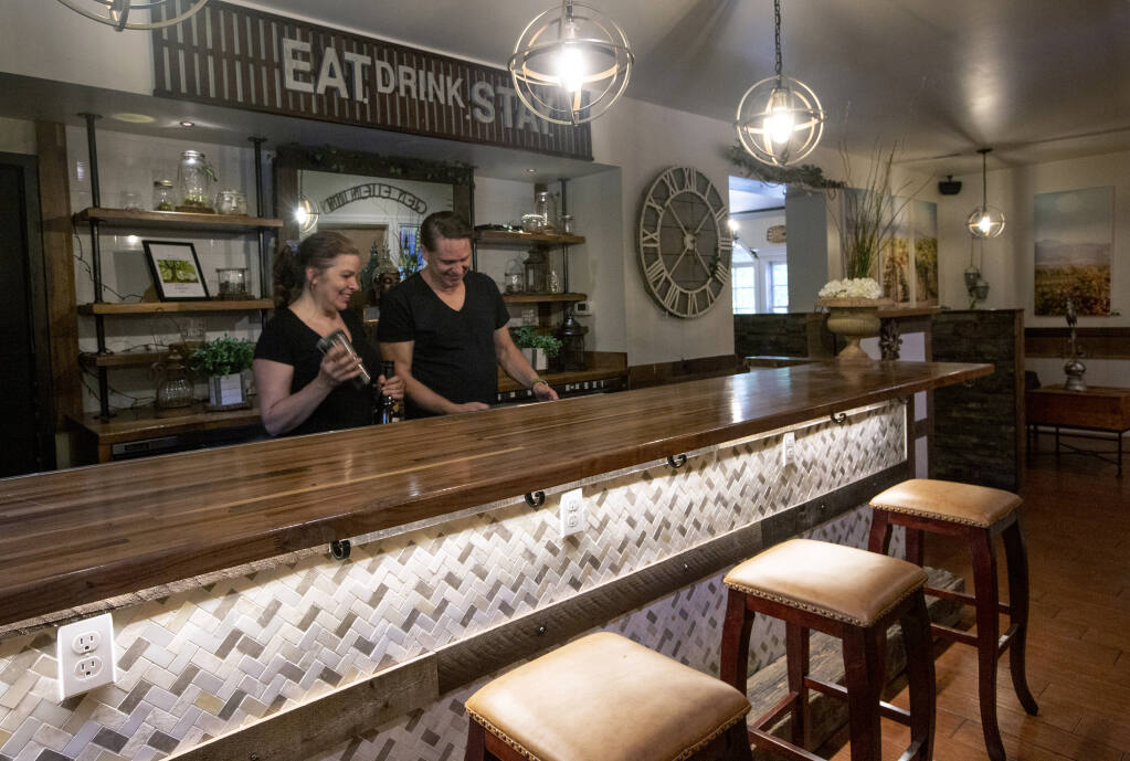 Though the restaurant will remain closed, Karen and Chris Bertrand intend to keep the martini bar open. (Robbi Pengelly/Index-Tribune)