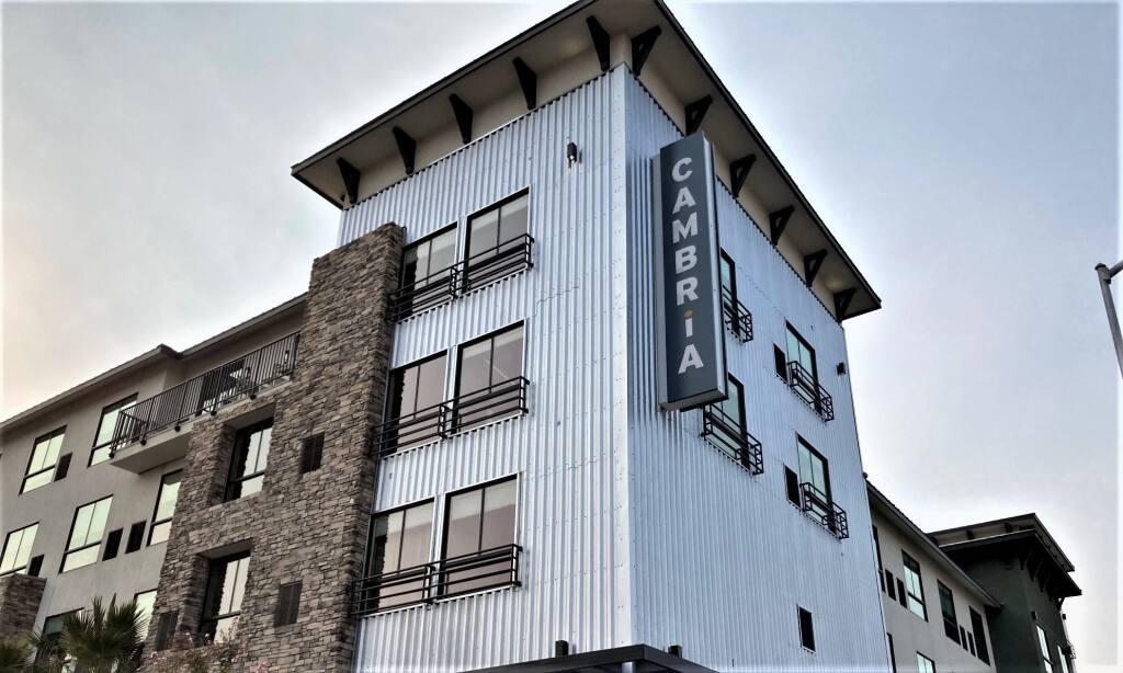 Cambria Hotel Napa Valley has opened on Soscal Avenue.