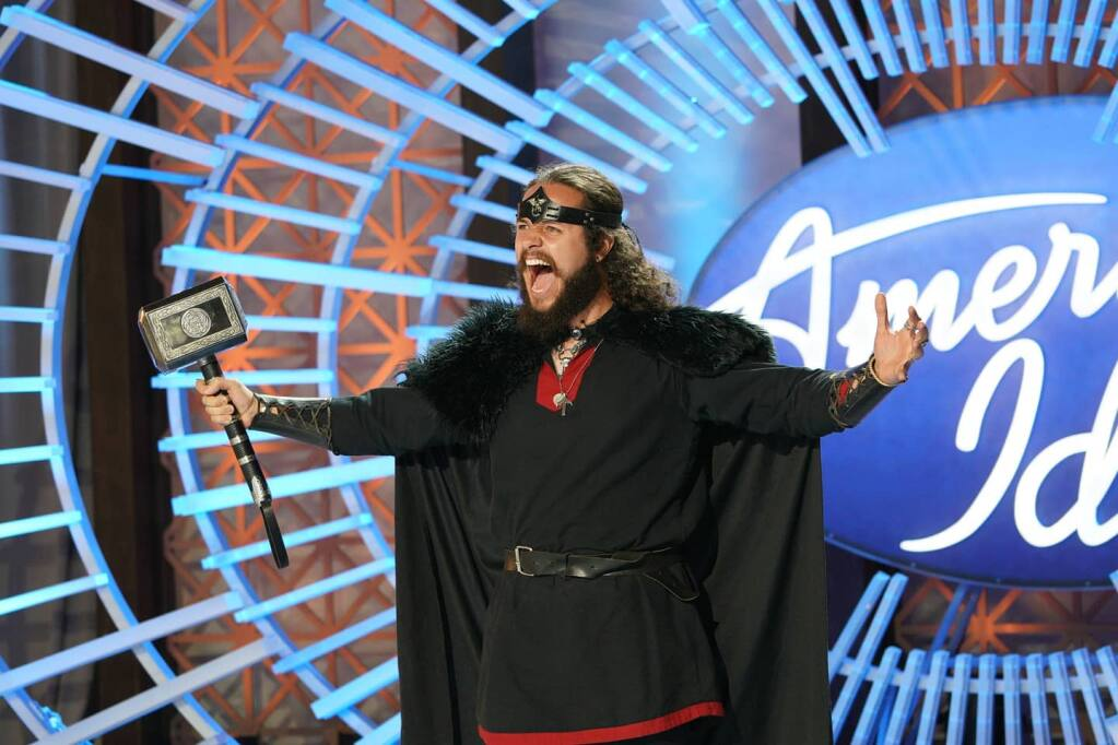 """Anthony Guzman, who auditioned on """"American Idol"""" last month in a Viking costume, lost out during Sunday's """"Showstopper"""" round. (Anthony Guzman)"""