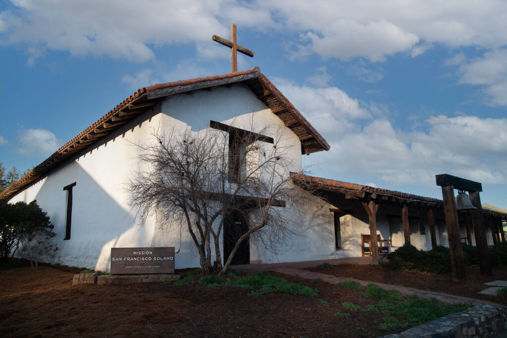The Sonoma Mission was part of the consolidation of Mexican power in 19th century California, according to historian Marie Christine Duggan. (Lukas Wynne/Special to the Index-Tribune)