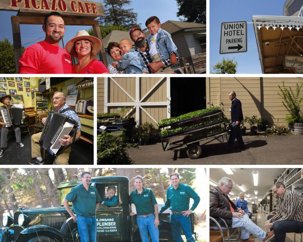 Click through the slideshow to read about some local family-owned businesses in Sonoma County.