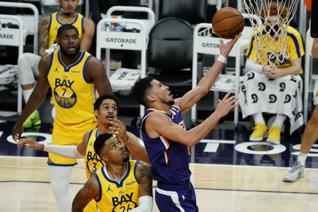 Suns cruise past short-handed Warriors 120-98