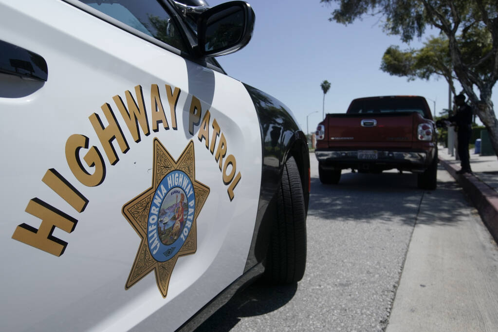 California Highway Patrol responded to a bicycle-car collision June 15 on Verano Avenue. (AP Photo/Chris Carlson)
