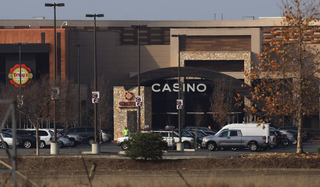 Officials with the Graton Resort and Casino, Thursday, Dec. 24, 2020, west of Rohnert Park, have canceled their plans to hold a large, private New Year's Eve event. (Kent Porter / The Press Democrat) 2020