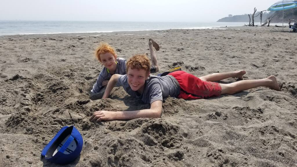 Bolinas Beach, where the sand castles don't build themselves.