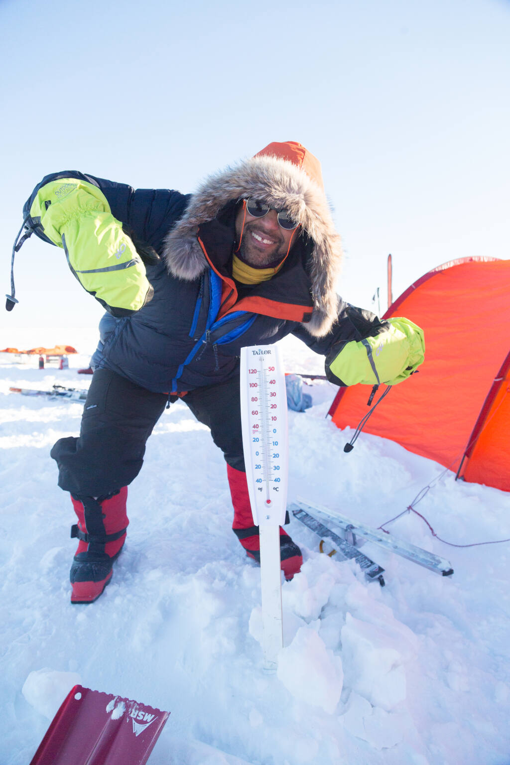 In 2018, James Edward Mills participated in a cold-weather travel training program on Lake Winnipeg in Manitoba, Canada, where temperatures descended to about 30 degrees below zero. (Erick Larsen)
