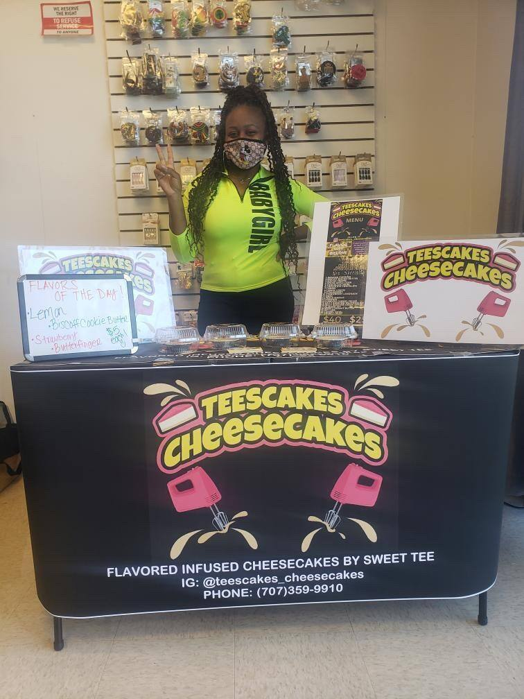 Tashara Delaney of Teescakes Cheesecakes in Fairfield is using the microenterprise home kitchen operations (MEHKO) California law to get all of her paperwork in order to continue to sell products she makes from home. (Tiffany Caldwell photo)
